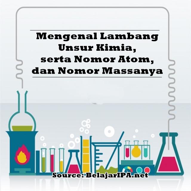 Mengenal Lambang Unsur Kimia, serta Nomor Atom dan Nomor Massanya